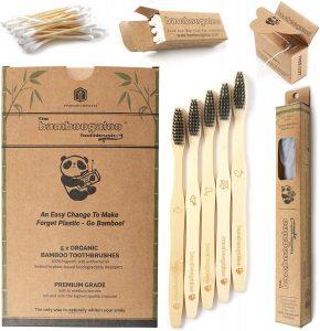 Mejores cepillos de dientes de bambú y cerdas de polímeros biodegradables
