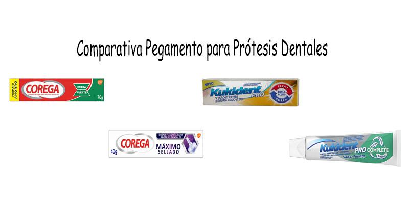 Comparativa pegamento para prótesis dentales